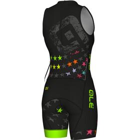 Alé Cycling Olympic Triathlon Stelle SS Skinsuit Women black-fluo green